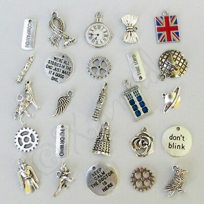 2//4//8PCs Doctor Who Weeping Angel 38mm Wholesale Antiqued Silver Plated Charms