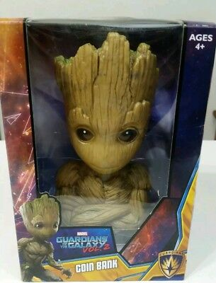 "Marvel Guardians of the Galaxy Vol 2 Baby Groot 7"" Kids Bedroom Coin Bank"