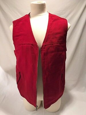 Duluth Trading Co Sherpa Berber Fleece Lined Hunting/Work Canvas Vest Size L
