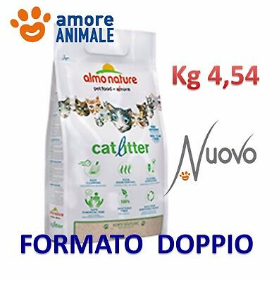 Almo Nature Cat Litter - Lettiera Gatto 4,54 Kg - Ecologica smaltibile nel WC