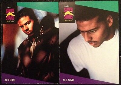 Al B. Sure Proset Superstar Musicards 1St Edition-All 2 Card Set Rare Oop (1991)