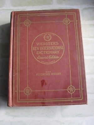 Vintage 1950 Webster's New International Second Edition Volume 2- Dictionary