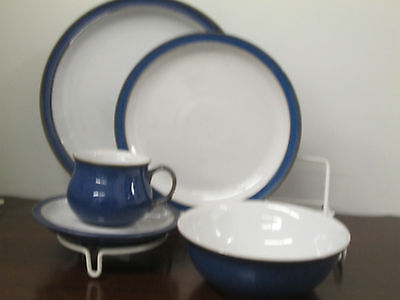 Denby Imperial Blue fine English china 1-5pc. place setting new perfect