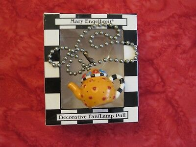 Mary Engelbreit Fan / lamp Pull  yellow Teapot with chain STOCKING STUFFER!