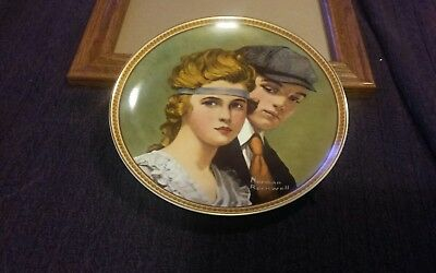 """>Ltd Ed Collector Plate NORMAN ROCKWELL """"Meeting on the Path"""""""