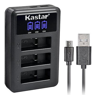Kastar LED-3 USB Charger for Gopro Hero 5 / 6 AHDBT-501 AABAT-001 601-10197-000