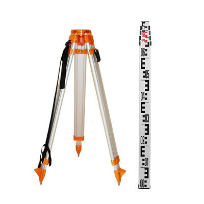 Aluminium Tripod w Laser Level staff for Rotary Laser Dumpy Level Construction