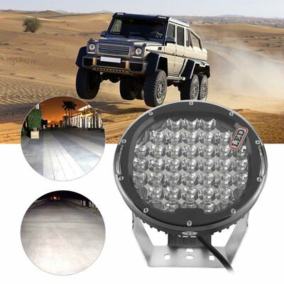 2*185W 9inch 7D led driving light black spotlights WORK Offroad HID SUV4 PP