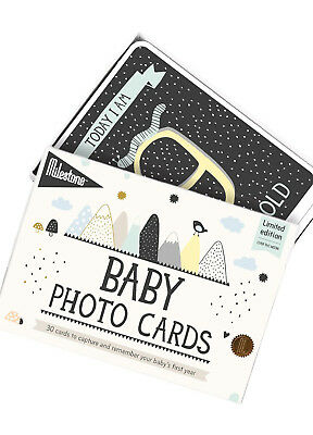 NEW - Milestone Cards - Over the Moon Baby Photo Cards