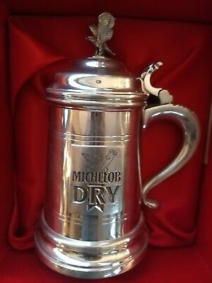 Shirley Pewter ~ Michelob Dry COVERED STEIN ~  In Gift Box