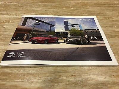 2018 TOYOTA FULL-LINE 32-page Original Sales Brochure