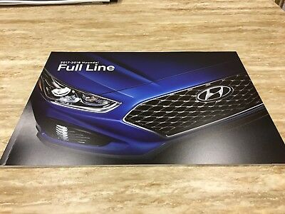 2017-2018 HYUNDAI FULL-LINE 24-page Original Sales Brochure