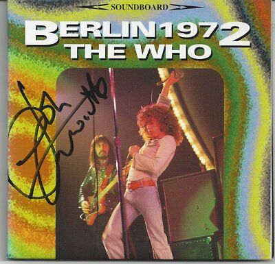 """The Who """"Berlin 1972"""" OOP Rare 2 Cd Autographed"""