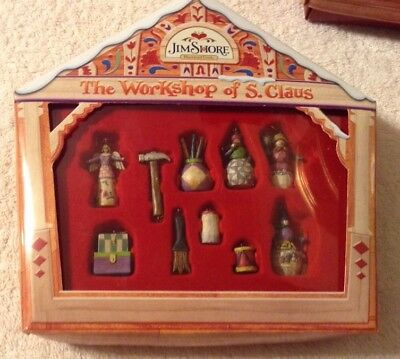 Jim Shore The Workshop Of S. Claus Miniature Ornament Set Heartwood Creek (I)