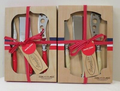 Marie Claire Laguiole Domain Set Of 3 Cheese Knife Set (RRP $29.95)