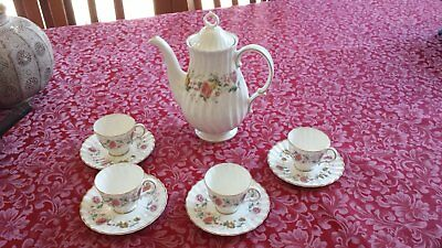 Royal Doulton Rosell Coffee Pot and Cups