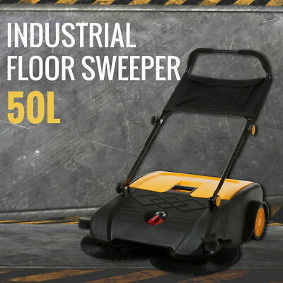 Industrial Floor Sweeper 50L Sweeping Machine Cleaner Dust Cleaning Warehouse