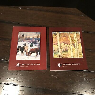 "Lot Of 2 ""Scottsdale Art Auction"" Catalogs / 03/31/2007 & 04/05/2008"