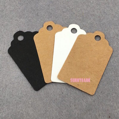Brown White Black Pink Blue Kraft Wedding Gift Paper Tag With Twine Label Card
