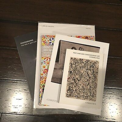 Lot Of 5 Christies Nyc New York Auction Catalogs