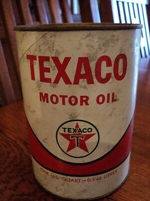 Texaco Wave Motor Oil Heavy Duty 1965 One U.s. Quart Card Board Container Very G