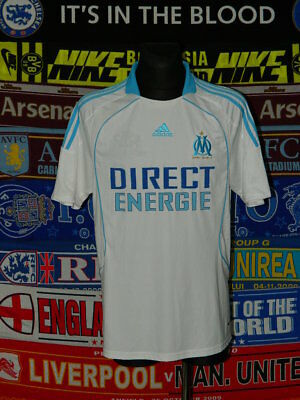5/5 Olympique Marseille adults L 2008 MINT football shirt jersey trikot maillot