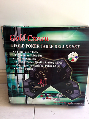 poker table deluxe set never used