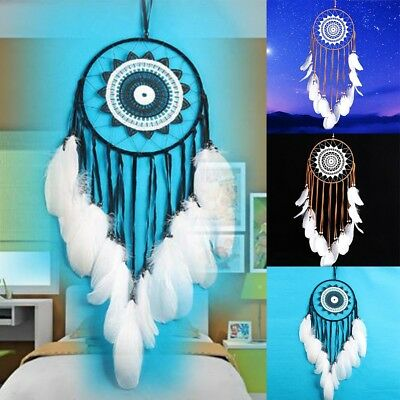Large Dream Catcher With Feathers Handmade Home Hanging Decor Decor Craft Xmas