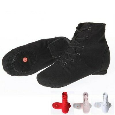 Woman Dance Shoes Soft Sole Canvas Sports Dancing Sneakers Lace Up Jazz Shoes