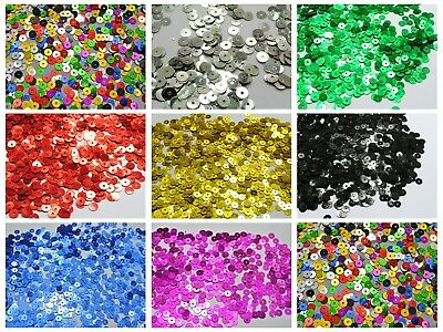 8000 5mm Flat Round loose sequins Paillettes sewing Wedding craft