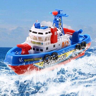 Kids Baby Bath Boat Toys Rescue Squirts And Rides In Water Time Squirting Ship