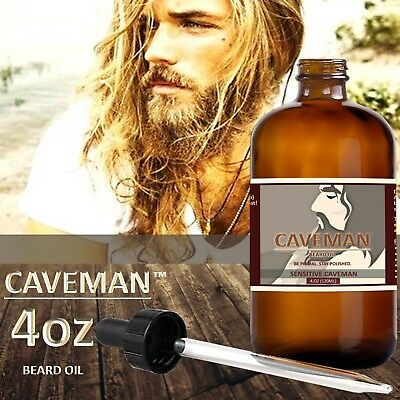 Beard And Mustache Oil Sensitive Fragrance Free By Caveman Beard Care 2 Ounces Health & Beauty