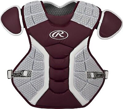 (43cm , Matte Maroon) - Rawlings Pro Preferred Series Chest Protector
