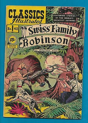 Classics Illustrated Comic 1947 early edition Swiss Family Robinson   #872