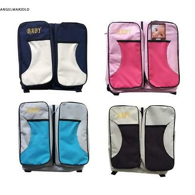 3in1Changing Baby Bag Multifunction Mummy Diaper Nappy Backpack&CarryingBaby Bed