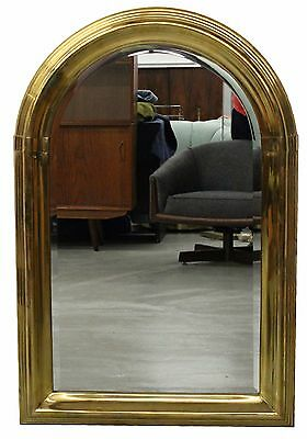 Large Art Deco Mid Century Vintage Brass Mirror By La Barge Made In Spain