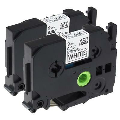 2PK TZe-221 TZ 221 Compatible for Brother P-Touch Label Tape Cassette 9mm 8m