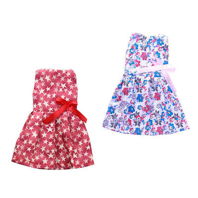 2 Floral Dress Skirt Clothes for 14'' American Girl Wellie Wishers Doll Gift