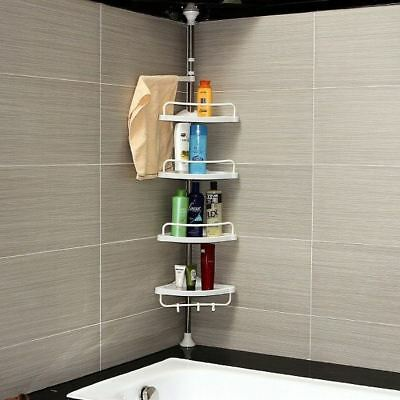 New 4 Tier Corner Shelf Shelf Organiser Kitchen Bathroom Toilet Storage Shower
