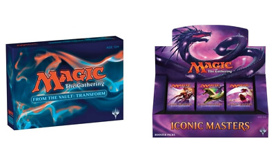 Magic The Gathering From the Vault Transform & Iconic Masters Box Bundle