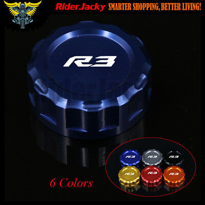Motorcycle Rear Brake Fluid Reservoir Cap Cover For YAMAHA YZF R3 YZFR3 15-2017