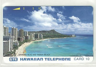 Hawaiian Tel 1994 10u Diamond Head Phone Card Mint