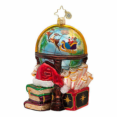 Christopher Radko - Charting A Course - Santa & Sleigh Globe - Ornament 1016719