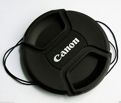58 mm Center Pinch Snap-on Front Lens Cap for Canon