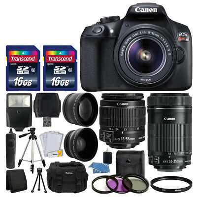 Canon EOS Rebel T6 DSLR Camera Kit + 18-55mm f/3.5-5.6 IS II Lens + Accessories