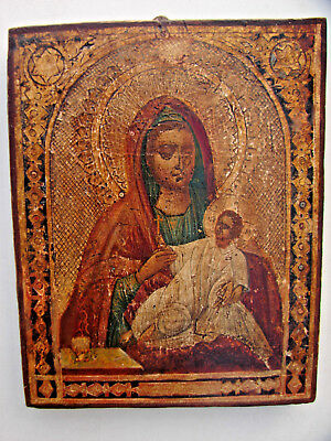 ANTIQUE. Russian icon of the Mother of God Kozelshchanskaya, 19th century.