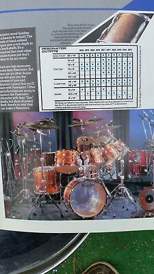 Premier Vintage 1985 drum catalog 1972 Folder Resonators !  Very Good