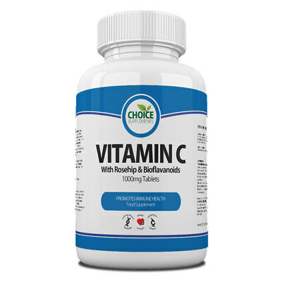 Vitamin C with Rosehip and Citrus Bioflavanoids 1000mg Tablets Food Supplements