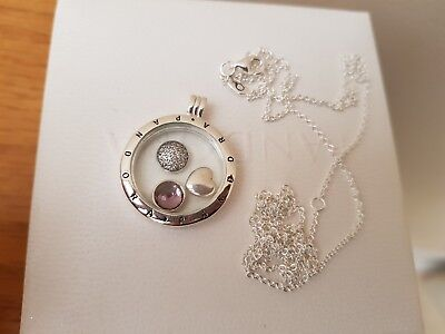 NEW Genuine Boxed Pandora Large silver floating charm locket RRP£169