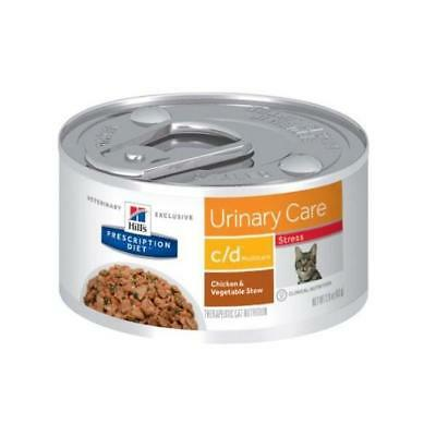 Hills Feline C/D Urinary Stress 24x82g prescription cat food